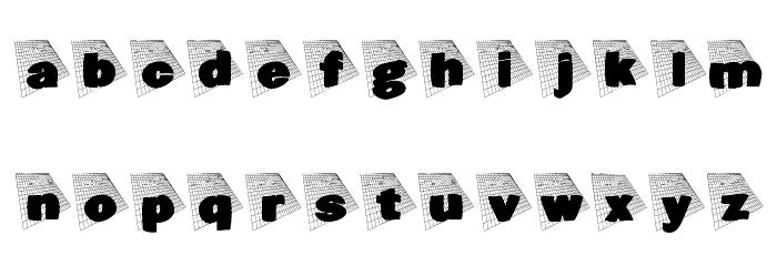 BlaxxOnGrid Font LOWERCASE