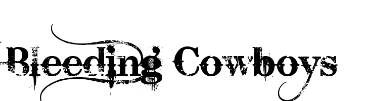 Bleeding Cowboys  Free Fonts Download