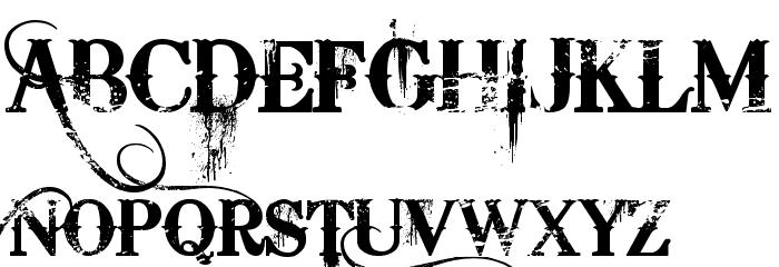 Bleeding Cowboys Schriftart Groß
