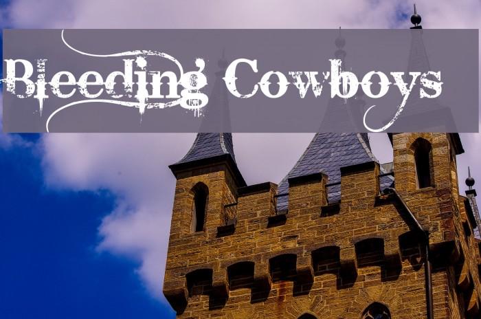 Bleeding Cowboys Schriftart examples