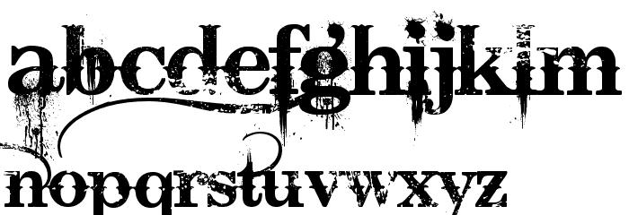 Bleeding Cowboys Schriftart Kleinbuchstaben