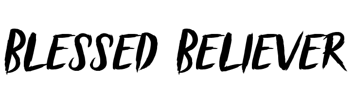 Blessed Believer  Free Fonts Download