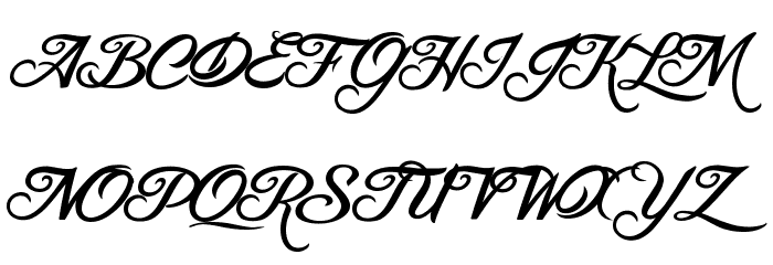 Blessed Day Font UPPERCASE