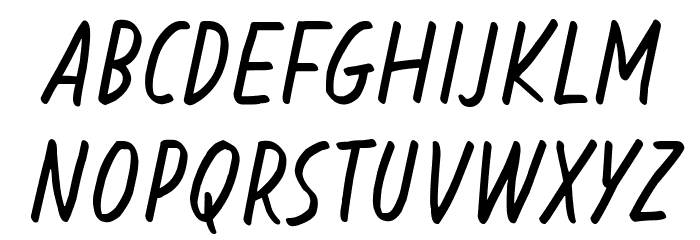 Blessing in Disguise Italic Шрифта ВЕРХНИЙ