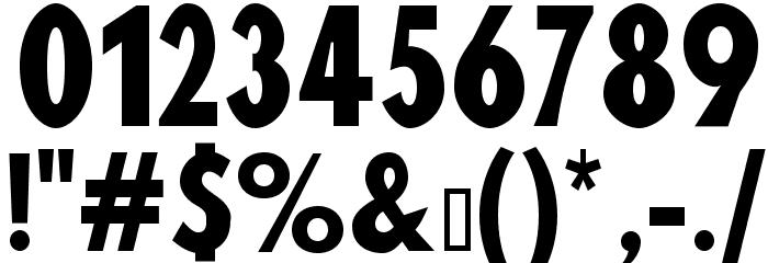 Blink Шрифта ДРУГИЕ символов