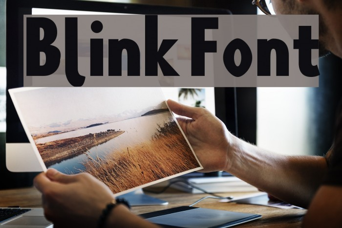 Blink Шрифта examples