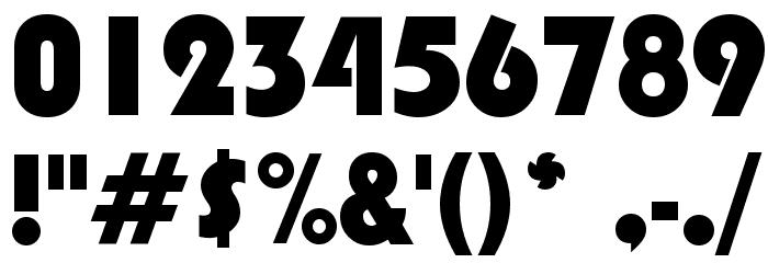 Blippo Black BT Font OTHER CHARS