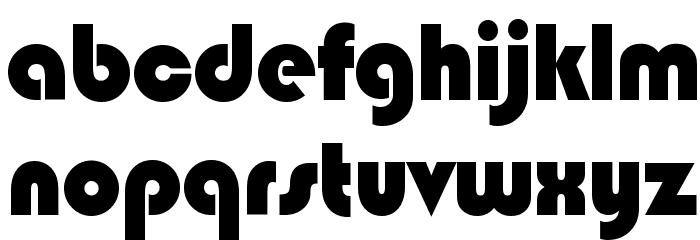 Blippo Black BT Font LOWERCASE