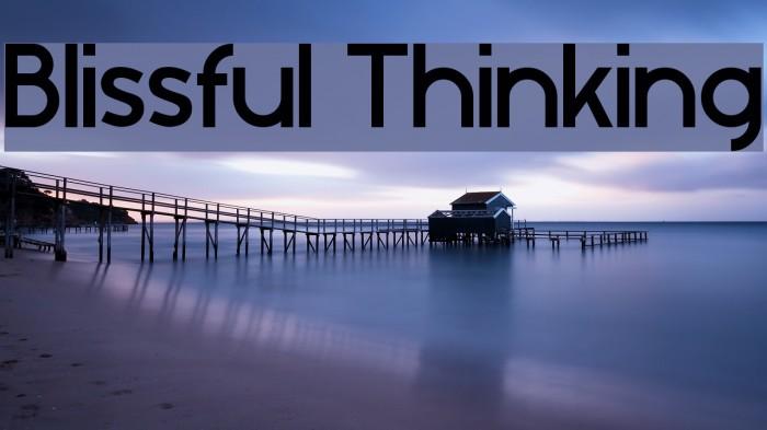 Blissful Thinking फ़ॉन्ट examples