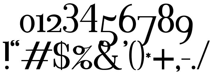 Blithedale Serif Шрифта ДРУГИЕ символов