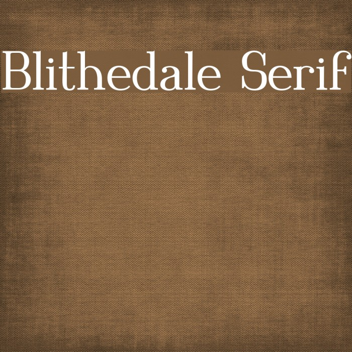 Blithedale Serif Schriftart examples
