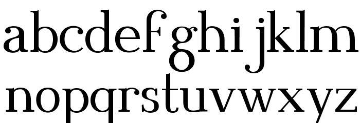 Blithedale Serif Шрифта строчной