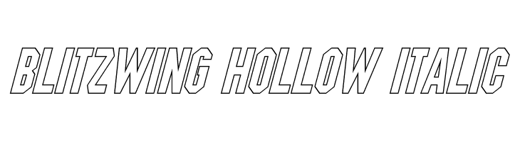 Blitzwing Hollow Italic  Free Fonts Download