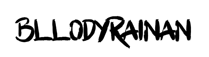 Bllody Rainan  नि: शुल्क फ़ॉन्ट्स डाउनलोड