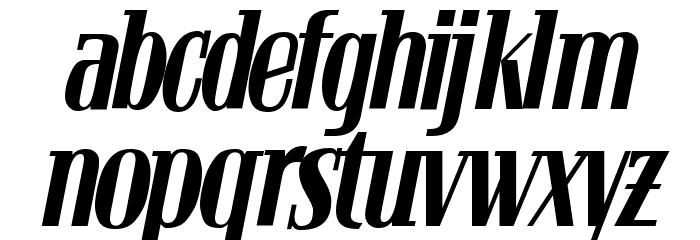 Bloc Kursiv Font LOWERCASE