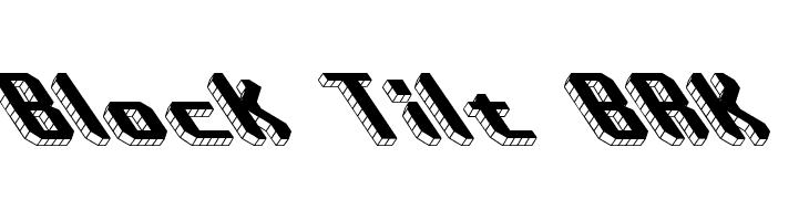 Block Tilt BRK  नि: शुल्क फ़ॉन्ट्स डाउनलोड
