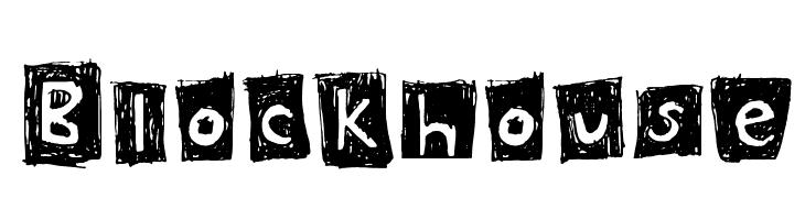 Blockhouse  Скачать бесплатные шрифты