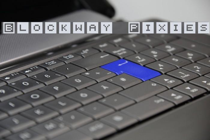 Blockway Pixies Font examples