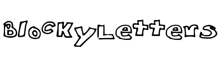 Blocky_Letters  Скачать бесплатные шрифты