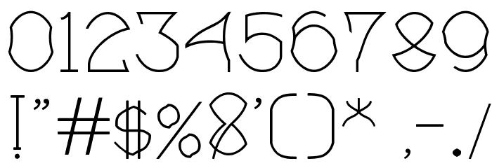 Bloem blaadjes Шрифта ДРУГИЕ символов