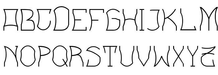 Bloem blaadjes フォント 大文字