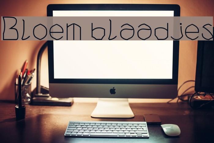 Bloem blaadjes フォント examples