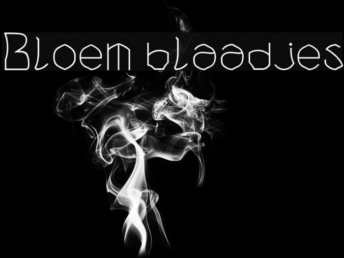 Bloem blaadjes फ़ॉन्ट examples