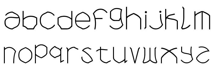 Bloem blaadjes Шрифта строчной