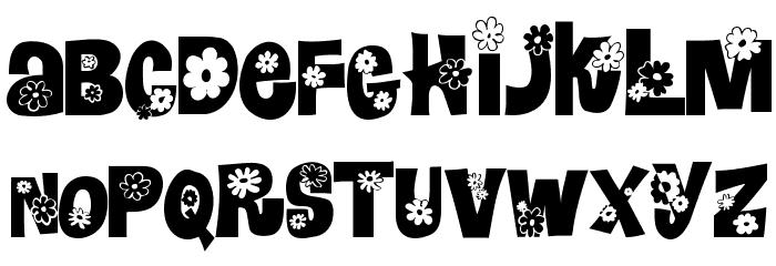 Blomster Font UPPERCASE