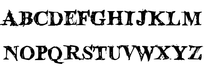 Blood Crow Font UPPERCASE