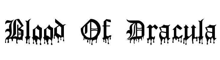 Blood Of Dracula  Free Fonts Download