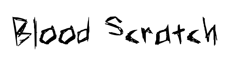 Blood Scratch  Free Fonts Download