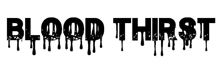 Blood Thirst  नि: शुल्क फ़ॉन्ट्स डाउनलोड