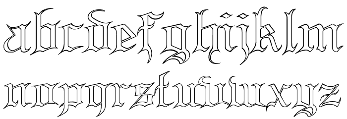 Blood and Blade outline demo Font LOWERCASE
