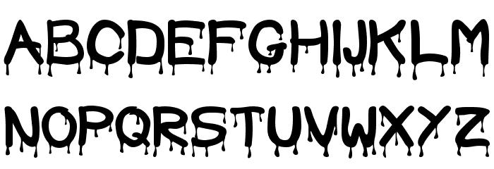 Blood Font UPPERCASE