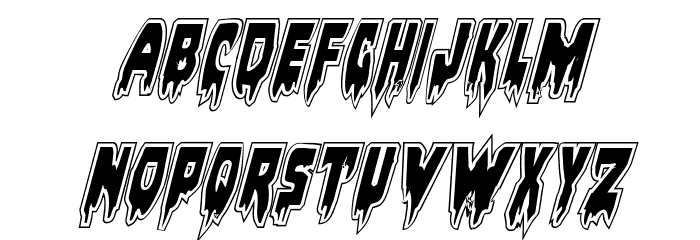 Bloodlust Academy Italic Font UPPERCASE
