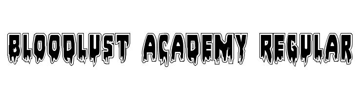 Bloodlust Academy Regular  Free Fonts Download