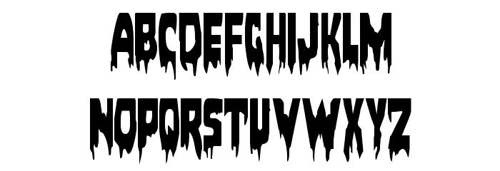 Bloodlust Condensed Font UPPERCASE