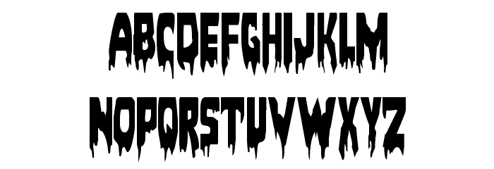 Bloodlust Condensed Font LOWERCASE