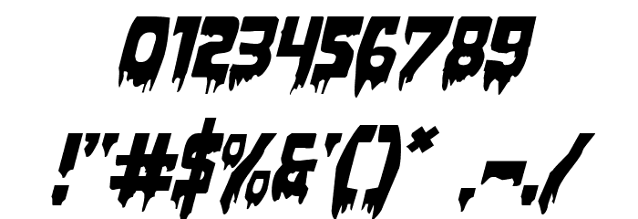 Bloodlust Expanded Italic Font OTHER CHARS