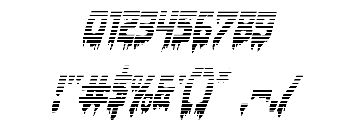 Bloodlust Gradient Italic Font OTHER CHARS