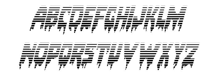 Bloodlust Gradient Italic Font UPPERCASE