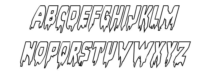Bloodlust Outline Italic Font LOWERCASE