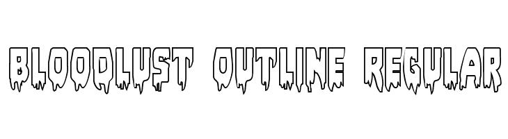 Bloodlust Outline Regular  Free Fonts Download