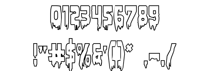 Bloodlust Outline Regular Font OTHER CHARS