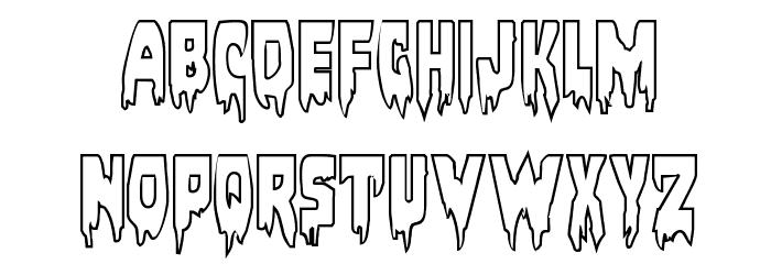 Bloodlust Outline Regular Font UPPERCASE