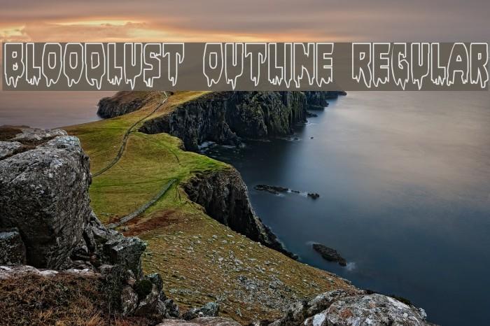 Bloodlust Outline Regular Font examples