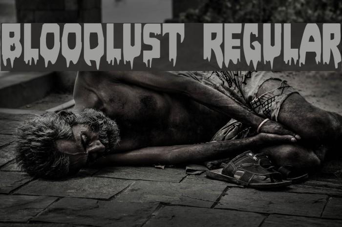 Bloodlust Regular Font examples
