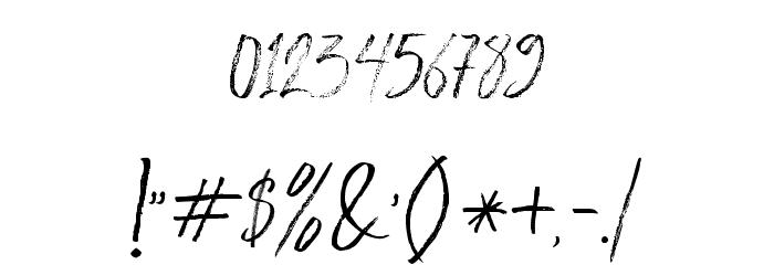 BloomyScriptFree Schriftart Anderer Schreiben