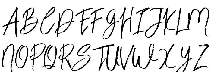 BloomyScriptFree Schriftart Groß